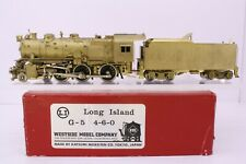 Westside Model Co. Brass HO Scale Long Island 4-6-0 G5s Locomotive and Tender