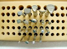 Lot of 19 Leather Crafting Tools Leather Stamps Tandy