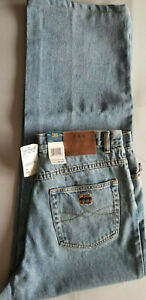 JOE MARLIN Men Sun Dried Indigo 100% Cotton Denim Jeans - 34x34 Light Stone Blue
