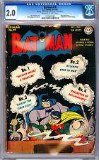 BATMAN #19 CGC 2.0 CLASSIC GOLDEN AGE JOKER APP *FIRST DICK SPRANG BATMAN* 1943