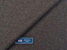 100% Lana Tweed tela, mezcla marrón con gris-hecho En Inglaterra