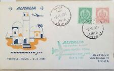 O) 1961 Africa, Inaugural Flight Tripoli - Rome, Alitalia - Caravelle, Tripolita
