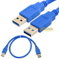 Pro 0.5m 1.8m 3m USB 3.0 A Male to Male Plug Extension Converter Cable Cord M-M
