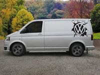 Huge VW Logo Vinyl Sticker Decal For Transporter T4 T5 T6 Campervan x 2