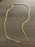 "Men's 14k Gold Stamped Cuban Link Chain 20 Inches "" 5mm Necklace Ice"
