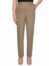"Nwt Alfred Dunner Petite Women's Mini Texture ""Boardroom"" Pants 18P Brown"