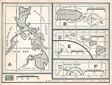 United States Island Possessions, Maps Of 6 Locations, Not A Pc, dated 1926