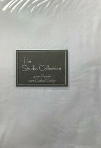 One  White,  Double Bed Fitted Sheet, 120 cm x 190 in 100% Cotton Percale