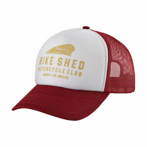 Bike Shed Indian Motorcycle Foam Fashionable Casual Wear Cap Port Red