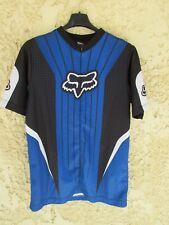 Maillot cycliste FOX bleu shirt trikot maglia camiseta trikot cycling S