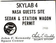 NASA Skylab 4 NASA Guests Site Sedan & Station Wagon Permit Kennedy Space Center