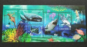1998 Australia Marine Life Planet Ocean MS (CTO Original Gum)澳洲海洋生物邮票小全张(原胶盖销)