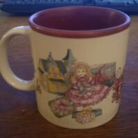 Potpourri Press dollhouse Coffee Mugs 1987 vintage