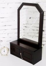 Antique Mahogany Dressing Table or Wall Cabinet Mirror - FREE Shipping [PL4093]