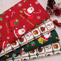 6pcs/Lot Christmas  Printed Twill_Cotton Fabric Patchwork Cloth Sewing Material