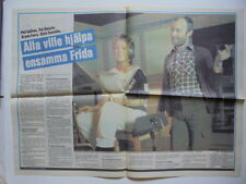 Abba Anni-Frid Frida Phil Collins clippings cuttings Sweden Swedish 1980s 1982