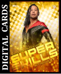 Topps SLAM WWE SUPER SKILLS 2021 ''SHINSUKE NAKAMUR''[GOLD REFRACTOR SUPERRARE]