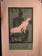 AFFICHE  QUATZ'ARTS  GRAPHISME DECO  BOUDDHA  EROTISME SIGNEE  JACQUET  1935