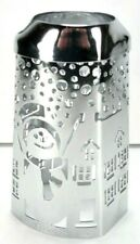 Bath & Body Works Soap Hand Soap Dispenser Chrome Metal Snowman Cover Sleeve