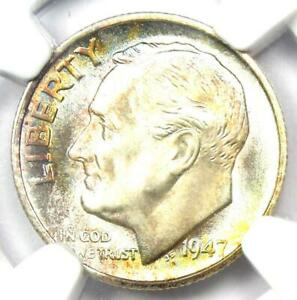 1947-S Roosevelt Dime 10C - Certified NGC MS68 FT - Rare MS68 FB - $1,500 Value!
