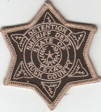 RUSK COUNTY SHERIFF'S DEPARTMENT DETENTION HAT PATCH TEXAS TX