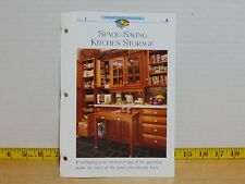 1995 Creative Home Decorating Group 1 Card 9 Space-Saving Kitchen Storage