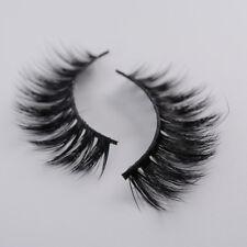 Black Top 3D 100% Mink Soft Long Natural Thick Makeup Eye Lashes False Eyelashes