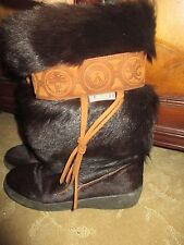 FANTASTIC WOMENS PAJAR GENUINE GOAT FUR AFTER SKI BOOTS, SZ 37, LQQK!!!!