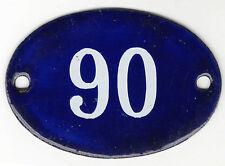 Francés antiguo Oval Azul Número De Casa Puerta 90 Puertas Placa Placa Esmalte Acero Signo