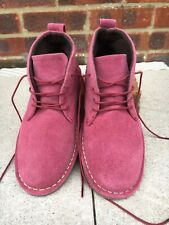 Pink Suede Leather Ankle Boots. Size 4. Cotton Traders. BNWOT