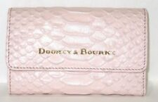 Dooney & Bourke Tri Fold Blush Pink Caldwell Embossed Leather Wallet NWT $138