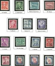 U.S. Stamps Scott 1030-1053 & 1054-1059a  Liberty Series issues of 1954-1961 #2
