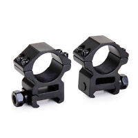 "2PCS Low Profile For Ruger 10/22  1"" Heavy Duty Rings & Rifle Scope Mount Set US"