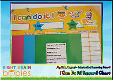 Kids Magnet I Can Do It! Reward Chart - Interactive Learning Magnetic Board