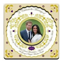 Royal Wedding Wooden Fridge Magnet May 2018 Prince Harry Meghan Markle Souvenir