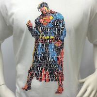 "SUPERMAN Men's T-shirt ""MAN OF STEEL"" DC COMICS - SUPER HERO - SIZE: 2X-LARGE"