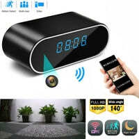 Alarm Clock Camera Clock WiFi Wireless Night Vision Security Nanny Cam 1080P