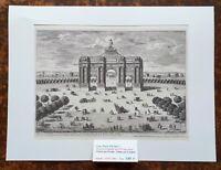 XVII ème - Paris XII ème - Gravure L'Arc de Triomphe Hors Fbg St Antoine - 1670