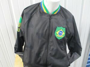VINTAGE ADIDAS BRAZIL NATIONAL MEN'S SOCCER TEAM ZIP-UP XL JACKET NWT RETRO