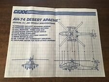 1992 GI Joe Cobra Desert Apache AH-74 Helicopter Blueprints Instructions Sheet