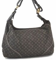 Auth Louis Vuitton Monogram Mini Lin Manon MM Shoulder Bag Brown M95619 LV C3553