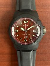 Men's Casio Sports Watch WR100M Red Face With Luminous Hands