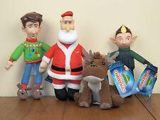 "Arthur Christmas 4-LOT 8"" Plush Santa Bryony Reindeer Stuffed Doll *NEW W/ TAGS*"
