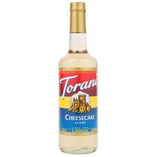 Torani CHEESECAKE Syrup  ~ 750 ml (25.4 FL OZ) ~ Glass Bottle Exp. 07/14/2019