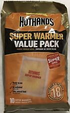 New! 10 Large Hothands Body & Hand Super Warmers Value Pack 18 Hours Of Heat