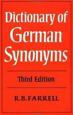 Dictionary of German Synonyms, Farrell, R. B., Good Condition, Book