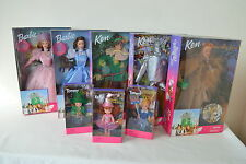 Barbie Wizard of Oz Lot 8 Dolls Dorothy Lion Tin Man Scarecrow Munchkins NRFB