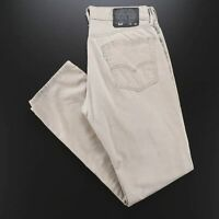 LEVI'S 514 White Tab Beige Denim Classic Straight Jeans Mens W31 L32