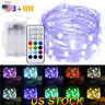 5M Battery Operated Remote Control 3 Wire LED Light Dimmable Decorative Lights