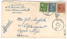 1949 US Gary IN to Pittsburgh PA  Prexie 16 c  Special Delivery Cover